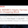 MSNBC Is An Unflushed Toilet Bowl Operation