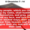 II Chronicles 7:14 Opens Up My Day