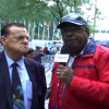 Dr. Wiley Drake At The United Nations Protest: No 2 Rouhani